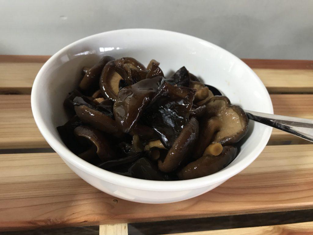 夢成きくらげと椎茸の佃煮